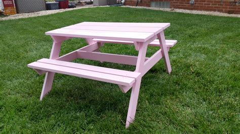 white preschool picnic tables diy projects 447 | Table%2001%20 %20Finished%2001