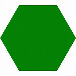 Green Hexagon Icon