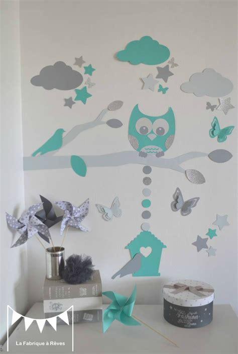 couture deco chambre bebe décoration et linge de lit bébé turquoise gris et pétrole