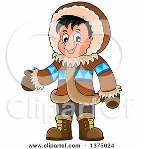 Eskimo clipart inuit person - Pencil and in color eskimo ...