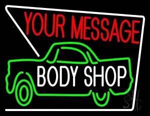 Custom Body Shop Car Logo 1 Neon Sign