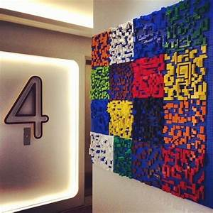 lego wall art quirky interiors pinterest With lego wall art