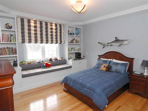 bedroom for boys transitional boy s bedroom with shark decor hgtv