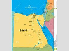 Vecteur De Carte De L'Egypte Photo stock Image 7452540
