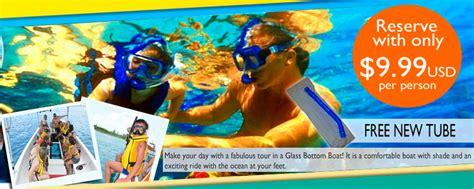 Glass Bottom Boat And Snorkeling by Snorkeling Glass Bottom Boat Safe Tours Cozumel