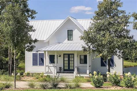 Modern Farmhouse Plan with Secluded Master Wing Cottage