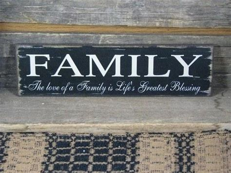 Family   Life's Greatest Blessing Wood Sign ? Primitive