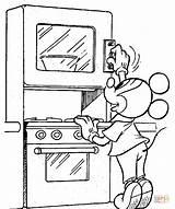 Mickey Kolorowanki Coloring Oven Piekarnik Kolorowanka Druku sketch template