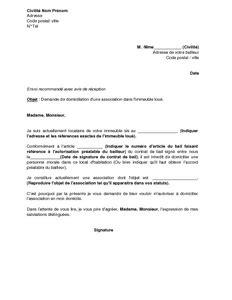 domiciliation siege social exemple gratuit de lettre demande autorisation