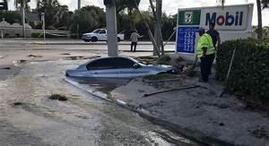 car crash causes sinkhole in deerfield photos