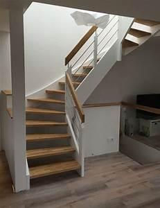 escalier bois et blanc mzaolcom With nice peindre un escalier en gris 3 escalier bois et blanc mzaol