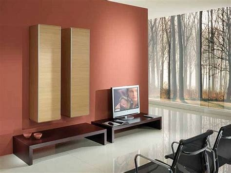 red wall paint color  family room  ideas