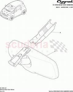 Aston Martin Cygnet Interior Rear View Mirror Parts