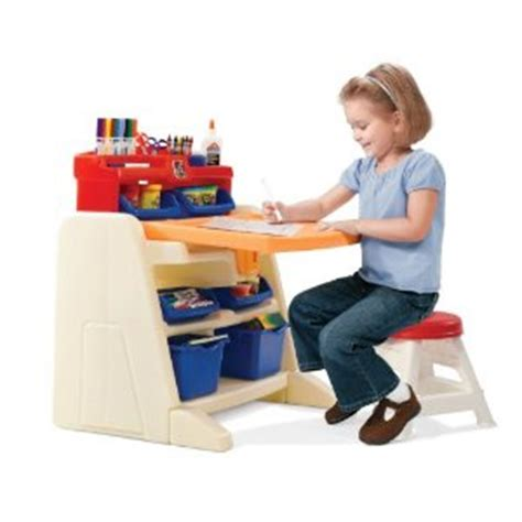 step2 easel desk walmart step 2 flip and doodle easel desk with stool 47 54 shipped
