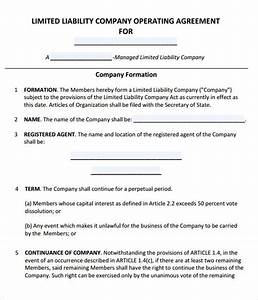 Operating agreement 8 free pdf doc download for Operating agreement llc template free