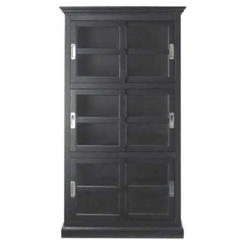 black bookcase with doors home decorators collection lexington 3 shelf bookcase with
