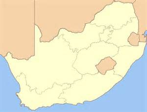 South Africa Map Blank