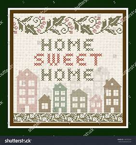 Home Sweet Home Vintage Background Stock Vector ...
