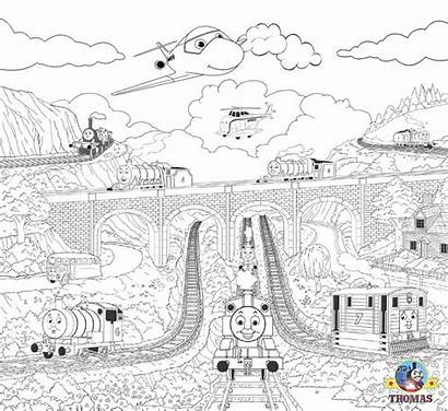 Steam Coloring Train Thomas Friends Engine Easy