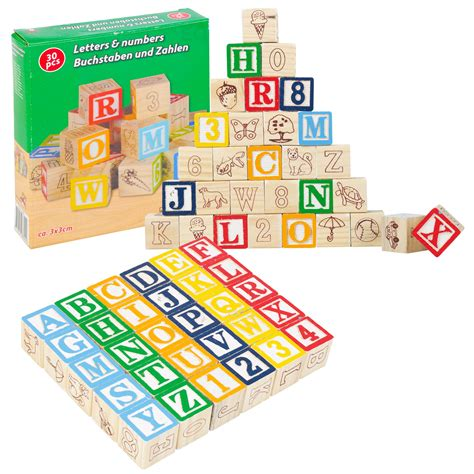 kids educational wooden cubes numbers letters toy game