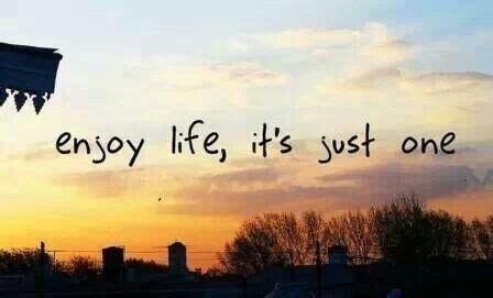 Enjoy life. Its just one... | Enjoy your life, Enjoyment ...