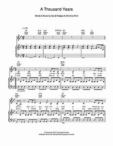 A Thousand Years sheet music by Christina Perri (Piano ...