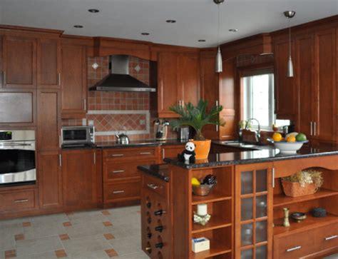 reparation armoire de cuisine cuisine en bois de merisier mod 232 le shaker et couleur