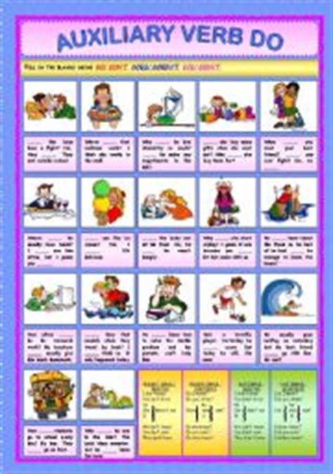 Auxiliary Verbs Worksheets