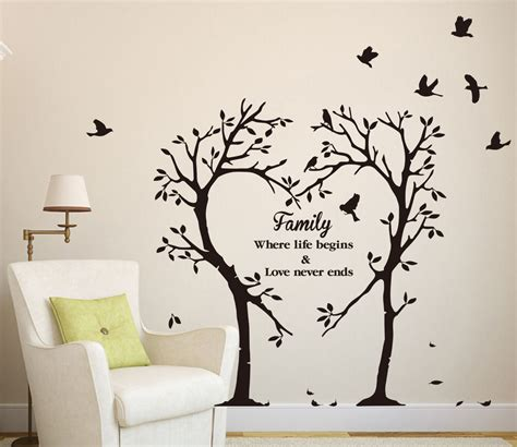large family inspirational tree wall sticker wall sticker decal
