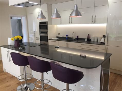 purple accessories for kitchen high gloss white modern kitchen with island island lights 4448