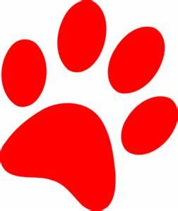 Red Dog Paw Clipart