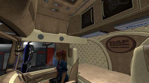 daf custom interior  ets euro truck simulator  mods