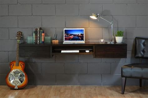 wall mounted desk woodwaves