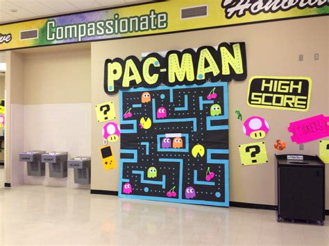 video game themed dance decorations pac man asb decor