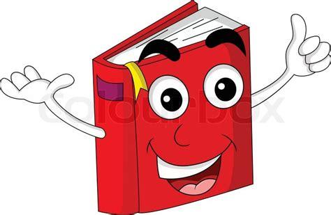 Cute Red Book Cartoon