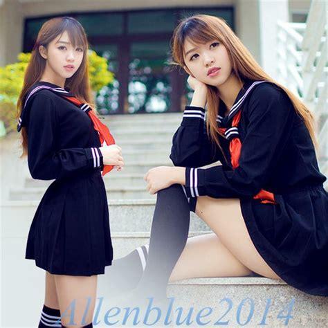 japanese school daily uniforms sailor marine style girls