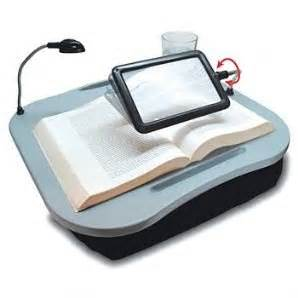 deluxe portable laptop lap tray desk cushion magnifier