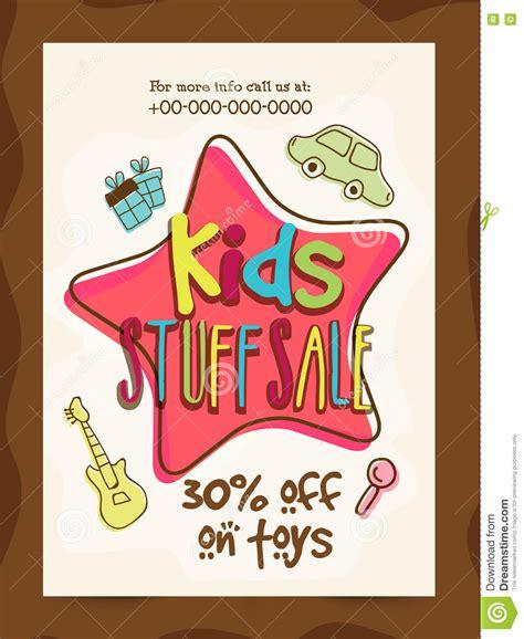 Kinder Verkaufen by Stuff Sale Banner Poster Or Flyer Design Stock
