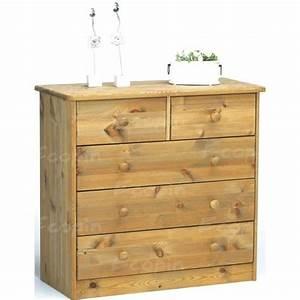 Commode En Pin : commode 3 2 tiroirs en pin venise ecopin meubles en pin ~ Teatrodelosmanantiales.com Idées de Décoration