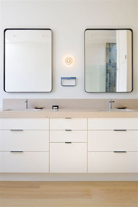 5 Bathroom Mirror Ideas For A Double Vanity  Contemporist. Silver Hurricane Candle Holders. Tri Fold Doors. Mustard Dining Chairs. Hidden Tv Cabinet