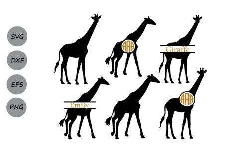 giraffe svg file giraffe monogram svg giraffe cut file animals svg  cosmosfineart