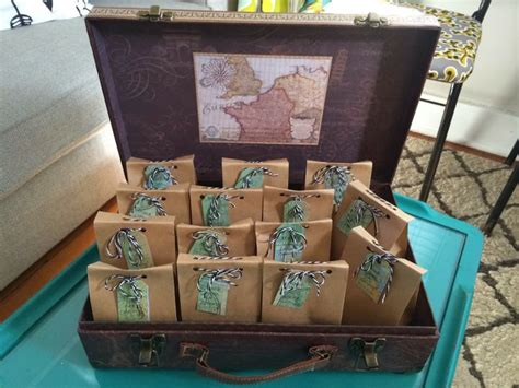 Travel Themed Baby Shower. Cute Party Favors
