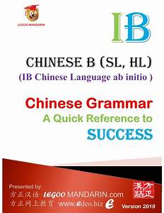 Ib Chinese B  Sl  Hl  Ab Initio Chinese Grammar Version