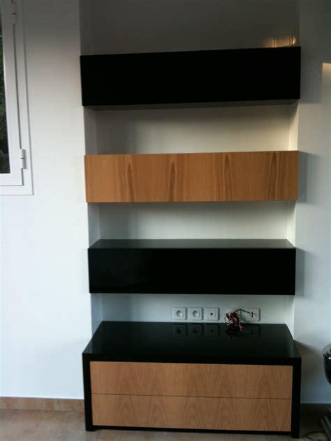 meuble haut cuisine noir laque meuble laqu 233 noir brillant et ch 234 ne sadeco le sp 233 cialiste en cuisines et salles de bain
