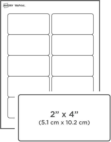 2x4 Shipping Label Template by 6 Avery Label Template Scope Of Work Template Avery White
