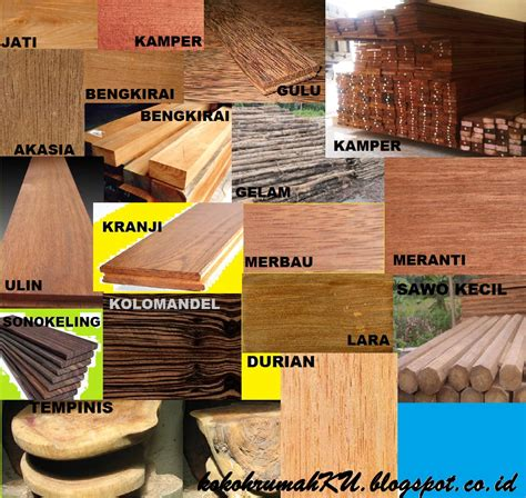 jenis kayu olahan keperluan bangunan furniture
