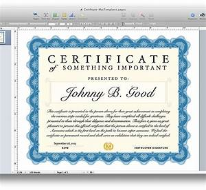 Certificate template for pages and pdf mactemplatescom for Certificate templates for pages