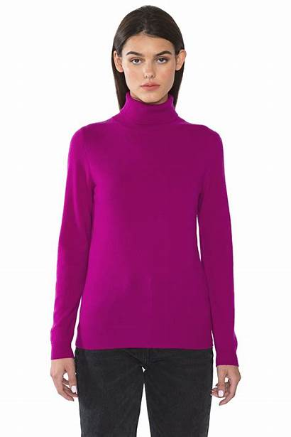 Turtleneck Sweater Sleeve Cashmere Berry Ribbed Layer