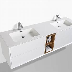 Meuble Double Vasque Design : meuble salle de bain sublima en 190 cm de longueur ~ Mglfilm.com Idées de Décoration