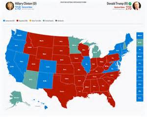 2016 Presidential Election Electoral Map Results
